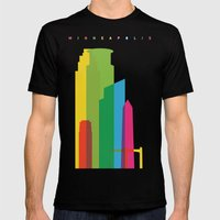 Shapes Of Minneapolis Mens Fitted Tee Black SMALL