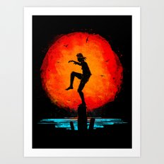 Minimalist Karate Kid Tribute Painting Art Print