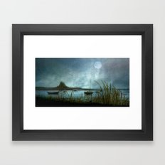Lindisfarne Moon Framed Art Print