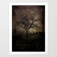 Lights In The Dark Art Print