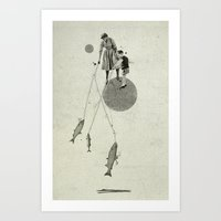 April   Collage Art Print