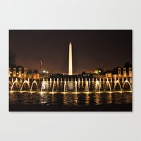Washington Monument From WWII Memorial Canvas Print