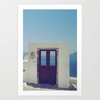 Santorini Door V Art Print