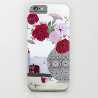iPhone & iPod Case featuring Petunias and Seascape by Yuliya