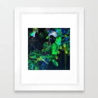 watercolor garden  Framed Art Print