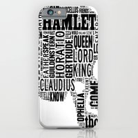 iPhone & iPod Case featuring Shakespeare's Hamlet Skull by MollyW