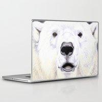 polar bear Laptop & iPad Skins featuring Polar Bear by StudioBlueRoom