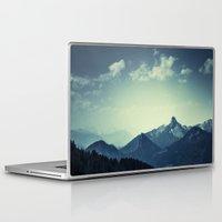 mountains Laptop & iPad Skins featuring Mountains by Koka Koala