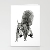 Pesky Squirrel Stationery Cards