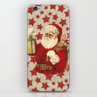 Vintage Santa iPhone & iPod Skin