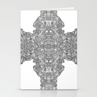 cross Stationery Cards featuring Cross by Coco Ysabelle