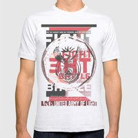 FIGHT THE BATTLE Mens Fitted Tee Ash Grey SMALL