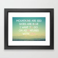 Adventures And I Love Yo… Framed Art Print
