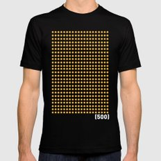 (500) SMALL Black Mens Fitted Tee
