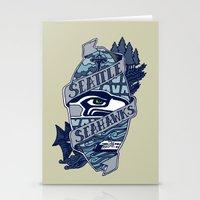 Go Hawks Stationery Cards