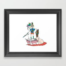 We show love to our King Framed Art Print