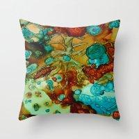 Flora Beginnings Abstrac… Throw Pillow