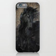 Gothic Friesian Horse iPhone 6 Slim Case