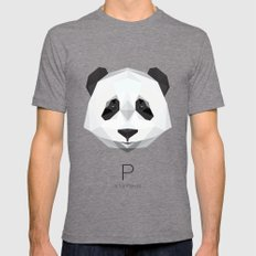 P Is For Panda Mens Fitted Tee Tri-Grey SMALL