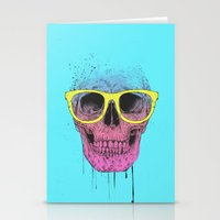 Pop Art Skull With Glass… Stationery Cards
