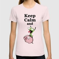 Keep Calm And Ride The P… Womens Fitted Tee Light Pink SMALL
