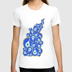 Evil eye Womens Fitted Tee White SMALL