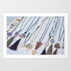 Quest Stones Boho Jewelry Art Print