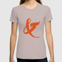 &3 Womens Fitted Tee Cinder SMALL