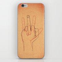 Love and Hate iPhone & iPod Skin