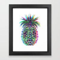 Pineapple CMYK Framed Art Print
