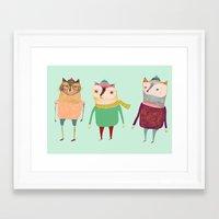 The Cats. Framed Art Print