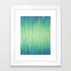 Ombre Aqua Bliss painting Framed Art Print
