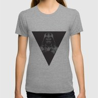Lord Vader Womens Fitted Tee Tri-Grey SMALL