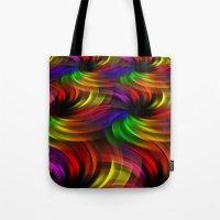 Rainbow Swirls Tote Bag