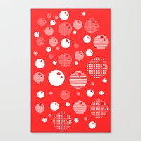 Bubblemagic - Red Canvas Print