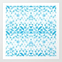 Geomtric Pastel Wave Art Print