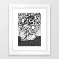 A young wizard Framed Art Print