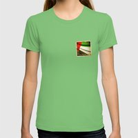 Grunge sticker of United Arab Emirates flag Womens Fitted Tee Grass SMALL