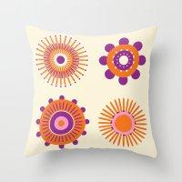 Sunburst: Orange Throw Pillow