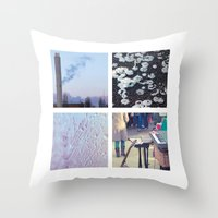 Squares #1: Berlin / Win… Throw Pillow