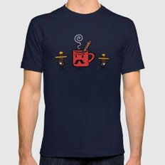 Cafe De Olla Mens Fitted Tee Navy SMALL