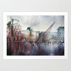 Le Louvre - Paris - Watercolor Art Print