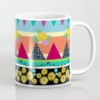 Graphical-Floral Pattern Mug