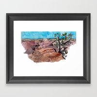 a rip in the earth Framed Art Print