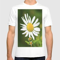 Wild Daisy Mens Fitted Tee White SMALL