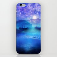Fantasy In Blue. iPhone & iPod Skin