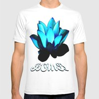 Lotus Flower Bomb Mens Fitted Tee White SMALL