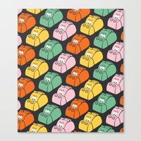 Hungry Hungry Pattern Canvas Print