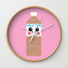 Happy Pixel Milk  Tea Wall Clock
