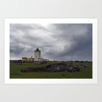 Eshaness Lighthouse Art Print
